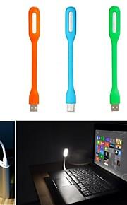 USB LED laptop pc notebook lys lampe plast fleksibel lav effekt lys (assorterede farver)