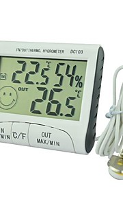 DC103 Indoor and Outdoor Thermometer Hygrometer with The Function of The Clock