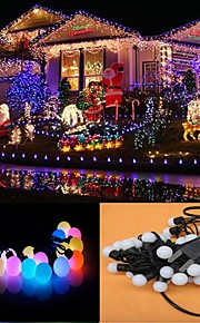 10m 100-ledede rgb lys ledet ball formet jul lys dekorasjon streng lys (110v)