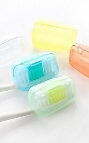 5pçs Protetor/Porta Escova de Dentes Prova de Água Antibacteriano Portátil Mini Tamanho para Acessórios de ToaleteMaterial de Qualidade