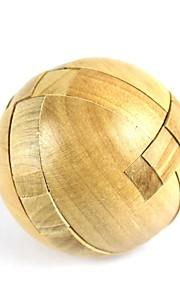 træ runde puslespil låse legetøj (1stk)