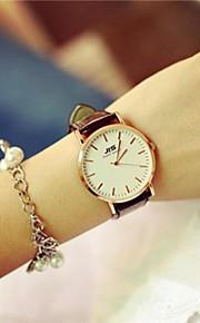Mulheres Relógio Elegante Quartzo Couro Banda Marrom Marron