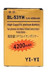 reemplazo yi-yi ™ decodificado alta capacidad 4200mah 3.8v batería li-ion para lg g3 / bl-53yh / d855 / vs985 / d830 / D851