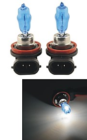 Carking™ HOD H11 100W 6000K Ultra Bright Car Warm White Light Bulbs (DC 12V/Pair)