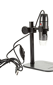 Adjustable 8 LED 800X USB Digital Microscope Endoscope Loupe Otoscope Magnifier with Stand