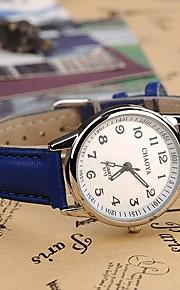quartzo estilo elegante liga relógio analógico pu das mulheres (cores sortidas)