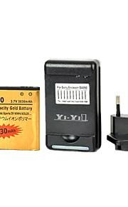 yi-yi ™ batería 3030mah reemplazo con usb nos clavija del cargador de la batería y enchufe de la UE para sony xperia zr / m36h / c5502 / ba950