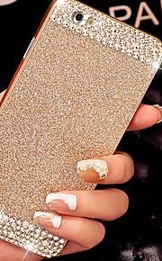 fast lyxiga bling glitter baksida täcker fallet med diamant för iphone 6 (blandade färger)