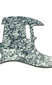 Pickguard 3ply para violão estilo tele, cinza pérola