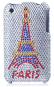 caso duro paris torre Bling caja de la PC para el iphone 3g / 3gs