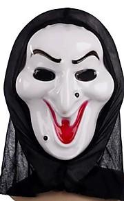 máscara de bruxa branca com tampa da cabeça piada prático aparelhos cosplay assustador para festa a fantasia do dia das bruxas