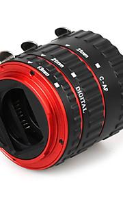 metal colorido auto foco TTL eletrônico foco af anel macro tubo de extensão para Canon EOS ef ef-s 60d 5d 7d ii 550d