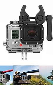 multi-purpose udendørs sport abs klemme mount indstillet til GoPro hero 02/03 - sort