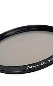 Tianya 58 milímetros cpl filtro polarizador circular para Canon 650D 700d 600d 550d 500d 60d lente 18-55mm