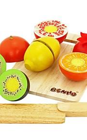 benho gummi træ frugt sæt træ uddannelse rollespil legetøj