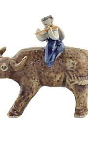 Guyun Ceramic Mini Cowboy Decoration for Aquarium
