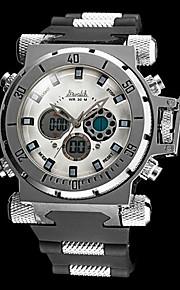 Relógio Militar (LCD/Régua Deslizante/Calendário/Cronógrafo/Resistente à Água/Dois Fusos Horários/alarme) - Analógico-Digital - Quartz