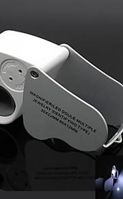 double-múltipla 60x 30x joalheiro lupa com 2-lanterna LED (3 x LR1130)