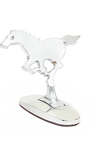 Universal 3D Running Horse Aluminum Three-Dimensional Logo Car Stickers Exterior Decoration Emblem