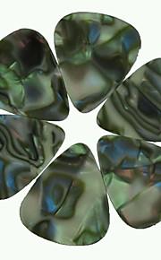 médio guitarra 0,71 milímetros pega palhetas celulóide abalone concha 100pcs-pack