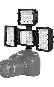 4 * 48h-ledede video lys fotografering til canon 7d 6d 5diii nikon D600 D800 D3100 D7000 DSLR-kamera lys dv
