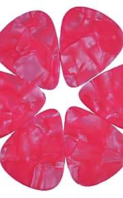 médio guitarra 0,71 milímetros pega palhetas pérola celulóide rosa 100pcs-pack