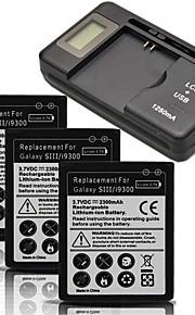batería de repuesto - 2300mAh - Samsung - Samsung S3 I9300 - i9300 USA/USB -