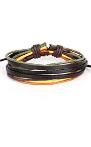 Pulseiras Pele - Enrole Pulseiras/Pulseiras Vintage/Pulseiras de couro - para Diário - com 1pc