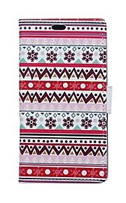 el caso de la tarjeta patrones murales de estilo de la carpeta de la PU de cuero de cuerpo completo para el deseo htc 826