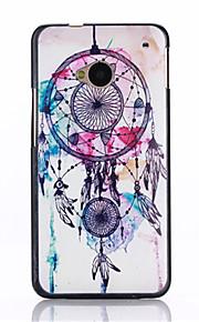 HTC 하나에 대한 쉘과 터치 펜 먼지 플러그 브래킷 어셈블리 후 초롱 꽃속 패턴 패턴 PC의 재료 (M7)