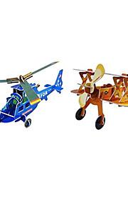 3d helikopter og fighter flyvemaskine puslespil (2 fly)
