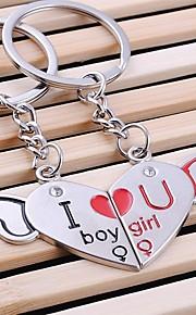 ame o coração para sempre casamento chaveiro porta-chaves para o dia dos namorados amante (um par)
