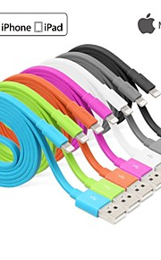 yellowknife® MFI Lightning 8Pin Sync and Charger USB Flat Cable for iphone 7 6s 6 Plus SE 5s 5 ipad(100cm)