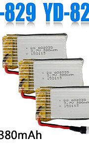 3pcs / pack 3.7v 380mAh lipo bateria m-829.yd829c quadcopter zangão baterias originais