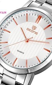 aço ouro dos homens relógios marca de quartzo analógico relógio de luxo relógios de pulso de moda casual