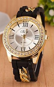 moda roman número de diamante cadeia de quartzo pulseira de relógio analógico das mulheres (cores sortidas)