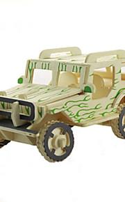 jeep træ tredimensionale puslespil pædagogisk diy