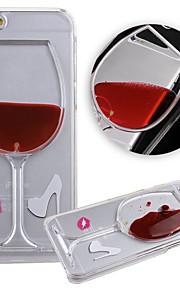 karzea ™ strömmande flytande vatten vinglas mönster TPU bakskal fallet för iphone 6