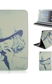 Hat Pattern PU Leather Case with Stand and Pen for iPad 2/3/4