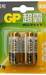 gp 6 stuks 1.5V AAA alkaline batterijen