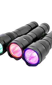 wf-502b 3W 1-mode cree q5 vermelho / verde / azul caça e pesca levou lanterna (400LM, 3 * aaa, prata)