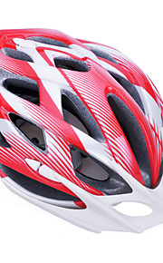 Unisex Fashion and High-Breathability PC + EPP Bicycle Helmet With Detachable Sunvisor(24 Vents) - Red + Silver