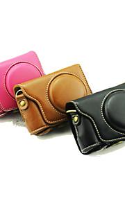 dengpin beskyttende aftagelig læder kamerataske taske cover med skulderrem til casio ex-zr3500 (assorterede farver)