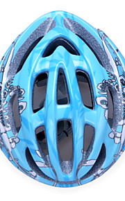 Unisex Fashion and High-Breathability PC + EPP Bicycle Helmet (20 Vents) - Blue + Black + Silver