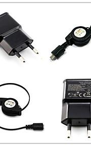 caricatore da muro la spina CA di UE con 100 centimetri cavo micro USB per Samsung S6 / S4 / S3 / s2 htc / lg / sony
