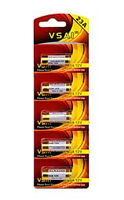 vsai 5pcs 23a 12v alkaline batterij voor draadloze deurbel / afstandsbediening / alarm