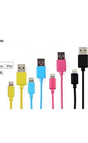 Assorted Colors Apple MFi Certified Lightning to USB Data Sync Charger Flat Cable for iphone 6/6plus/5s/5/ipad(10cm)