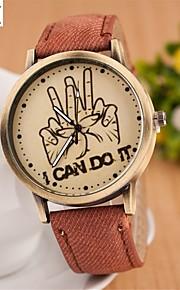 relógio de forma mão colar de quartzo analógico das mulheres (cores sortidas)