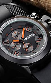 Masculino Assista Quartzo Japonês Relógio Esportivo Calendário / Cronógrafo / Impermeável Silicone Banda Relógio de Pulso