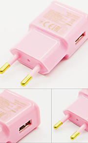 2015 New 2A EU Ac Charger USB Wall Charger Adapter For Iphone And Samsung-Pink